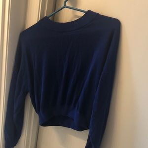 H&M Blue Cropped Sweater